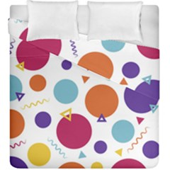 Background Polka Dot Duvet Cover Double Side (King Size)