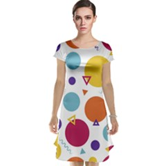 Background Polka Dot Cap Sleeve Nightdress