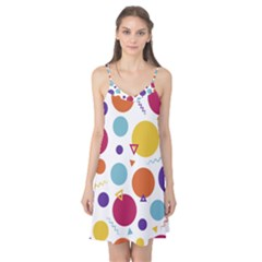Background Polka Dot Camis Nightgown