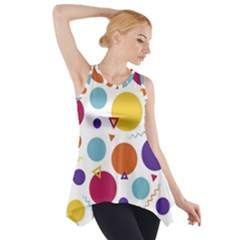 Background Polka Dot Side Drop Tank Tunic