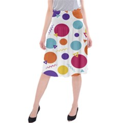 Background Polka Dot Midi Beach Skirt