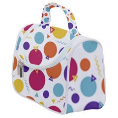Background Polka Dot Satchel Handbag