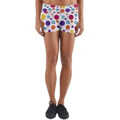 Background Polka Dot Yoga Shorts