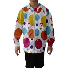 Background Polka Dot Kids  Hooded Windbreaker
