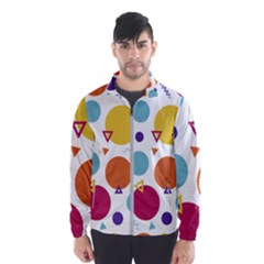 Background Polka Dot Men s Windbreaker