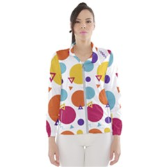 Background Polka Dot Women s Windbreaker