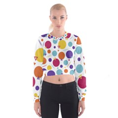 Background Polka Dot Cropped Sweatshirt