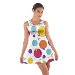 Background Polka Dot Cotton Racerback Dress