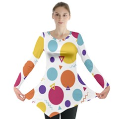 Background Polka Dot Long Sleeve Tunic