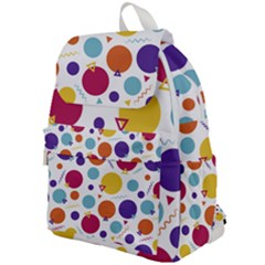 Background Polka Dot Top Flap Backpack