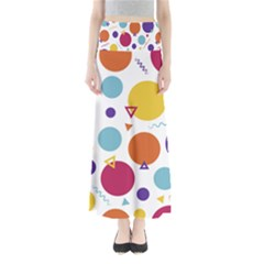 Background Polka Dot Full Length Maxi Skirt