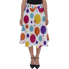 Background Polka Dot Perfect Length Midi Skirt