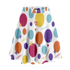 Background Polka Dot High Waist Skirt