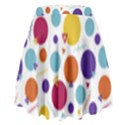 Background Polka Dot High Waist Skirt View2
