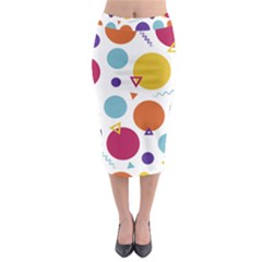 Background Polka Dot Midi Pencil Skirt