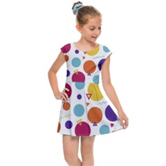 Background Polka Dot Kids  Cap Sleeve Dress