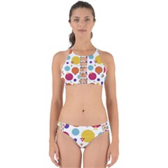 Background Polka Dot Perfectly Cut Out Bikini Set