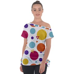 Background Polka Dot Tie-Up Tee