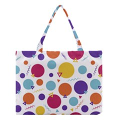 Background Polka Dot Medium Tote Bag