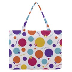 Background Polka Dot Zipper Medium Tote Bag