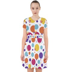 Background Polka Dot Adorable in Chiffon Dress