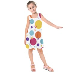 Background Polka Dot Kids  Sleeveless Dress
