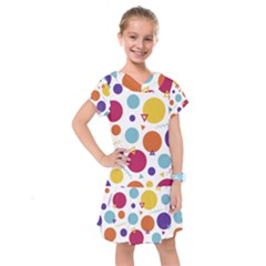 Background Polka Dot Kids  Drop Waist Dress