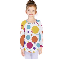 Background Polka Dot Kids  Long Sleeve Tee