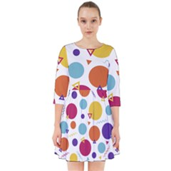 Background Polka Dot Smock Dress