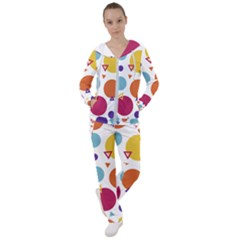 Background Polka Dot Women s Tracksuit