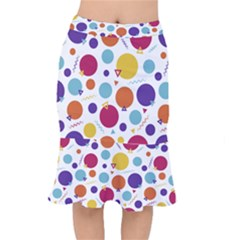 Background Polka Dot Mermaid Skirt
