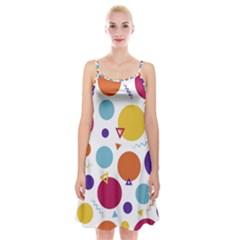 Background Polka Dot Spaghetti Strap Velvet Dress