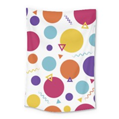 Background Polka Dot Small Tapestry