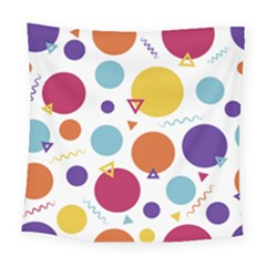 Background Polka Dot Square Tapestry (Large)