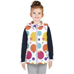 Background Polka Dot Kids  Hooded Puffer Vest