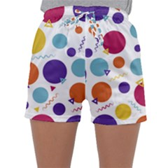 Background Polka Dot Sleepwear Shorts