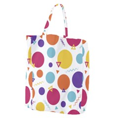Background Polka Dot Giant Grocery Tote