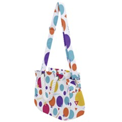 Background Polka Dot Rope Handles Shoulder Strap Bag