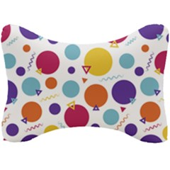 Background Polka Dot Seat Head Rest Cushion