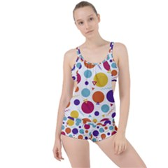 Background Polka Dot Boyleg Tankini Set