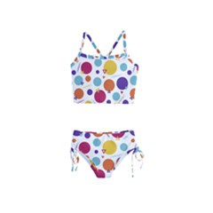 Background Polka Dot Girls  Tankini Swimsuit