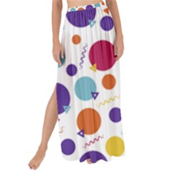 Background Polka Dot Maxi Chiffon Tie-Up Sarong