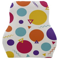 Background Polka Dot Car Seat Velour Cushion
