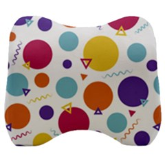 Background Polka Dot Velour Head Support Cushion
