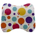 Background Polka Dot Velour Head Support Cushion View1