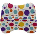 Background Polka Dot Velour Head Support Cushion View2