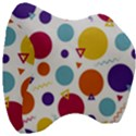 Background Polka Dot Velour Head Support Cushion View3