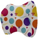 Background Polka Dot Velour Head Support Cushion View4