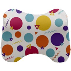 Background Polka Dot Head Support Cushion