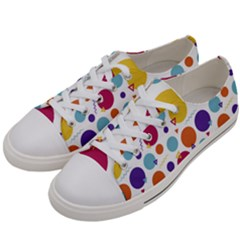 Background Polka Dot Women s Low Top Canvas Sneakers